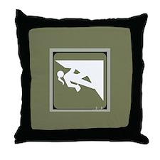 Climbing Girl Icon Throw Pillow