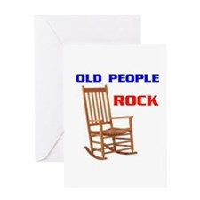 OLD FOLKS ROCK Greeting Card