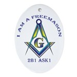 I am a Freemason Oval Ornament