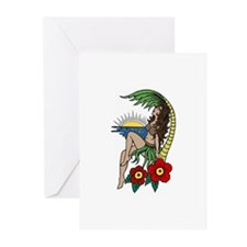Hula Girl Greeting Cards (Pk of 10)
