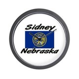 Sidney Nebraska Wall Clock