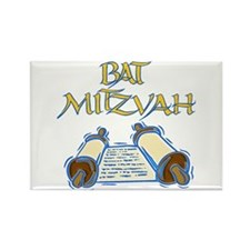 Bat Mitzvah Rectangle Magnet