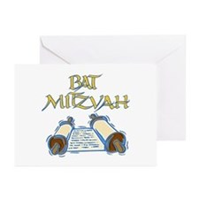 Bat Mitzvah Greeting Cards (Pk of 10)
