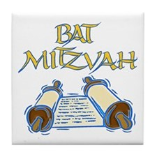 Bat Mitzvah Tile Coaster
