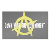 Anti-Gov't Rectangle Decal