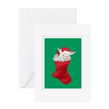 christmas fennec Greeting Cards