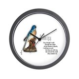 Psalm 23:4 Wall Clock