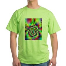 "Green ""Rainbow Aura"" Fractal T-Shirt"
