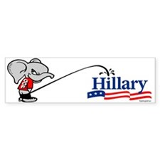 GOPee on Hillary Bumper Bumper Sticker