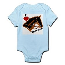 I Love Horses Infant Bodysuit