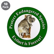 "Protect Endangered Species 3.5"" Button (10 pack)"
