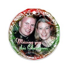 Missing You Ornament (Round)