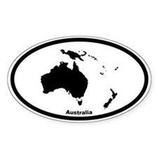 Australia Outline Oval Decal