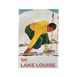Ski Lake Louise Rectangle Magnet