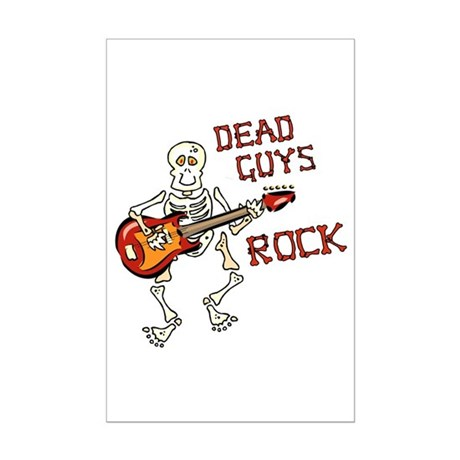 Dead Guys Rock Mini Poster Print