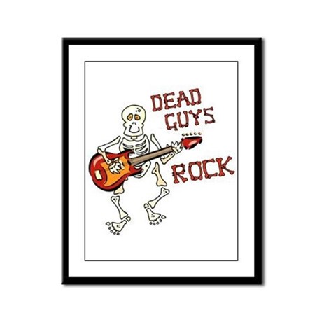 Dead Guys Rock Framed Panel Print