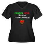 Chocolate Lovers Women's Plus Size V-Neck Dark T-S
