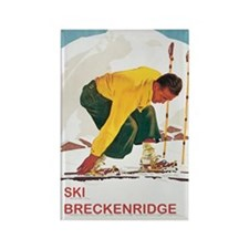 Ski Breckenridge Co Rectangle Magnet