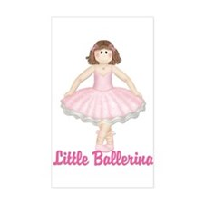 Little Ballerina 3 Rectangle Decal
