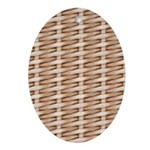 Brown Wicker Look Ornament (Oval)