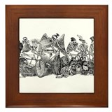Skeleton Riders Framed Tile