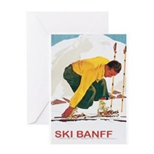 Ski Banff Canada Greeting Card