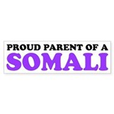 Proud Parent of a Somali Car Sticker