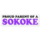 Proud Parent of a Sokoke Bumper Sticker