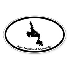 New Foundland Canada Outline Oval Decal
