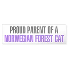 Proud Parent of a Norwegian Forest Cat Bumper Sticker