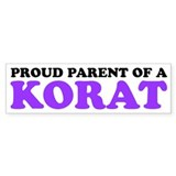 Proud Parent of a Korat Bumper Sticker