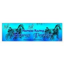 Blue Harness Racing Bumper Bumper Sticker
