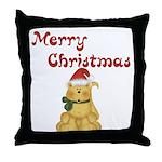 Merry Christmas Cat Throw Pillow