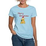 Merry Christmas Cat Women's Light T-Shirt