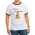 Merry Christmas Cat Ringer T