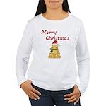 Merry Christmas Cat Women's Long Sleeve T-Shirt