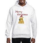 Merry Christmas Cat Hooded Sweatshirt