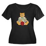 Dressed Up Kitty Women's Plus Size Scoop Neck Dark