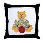 Dressed Up Kitty Throw Pillow