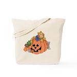 Cute Cat & Mice w/Pumpkin Tote Bag
