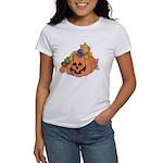 Cute Cat & Mice w/Pumpkin Women's T-Shirt