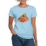 Cute Cat & Mice w/Pumpkin Women's Light T-Shirt