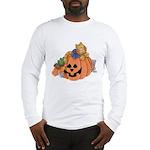 Cute Cat & Mice w/Pumpkin Long Sleeve T-Shirt