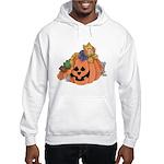 Cute Cat & Mice w/Pumpkin Hooded Sweatshirt