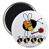 "Crossing guard 2.25"" Round Magnet"