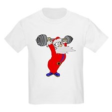 Working out Santa T-Shirt