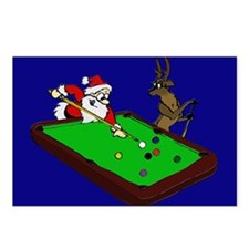Santa and Rudolph Postcards (Package of 8)