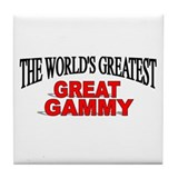 """The World's Greatest Great Gammy"" Tile Coaster"