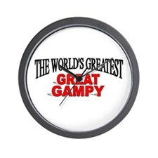 """The World's Greatest Great Gampy"" Wall Clock"