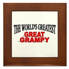 """The World's Greatest Great Grampy"" Framed Tile"